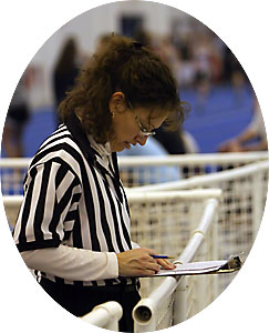 officials at a track and field meet